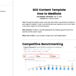 Creating the Perfect SEO Content Template in Google Docs
