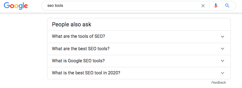 google search people also ask example