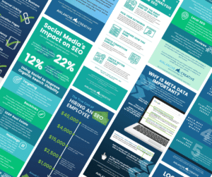 A Collage of Infographics About SEO